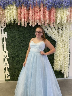 Sherri Hill Light Blue Size 18 Prom Ball gown on Queenly