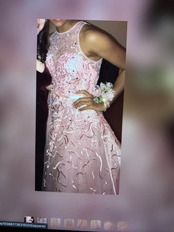 Blush Pink Size 6 Prom Fitted Train Dress on Queenly