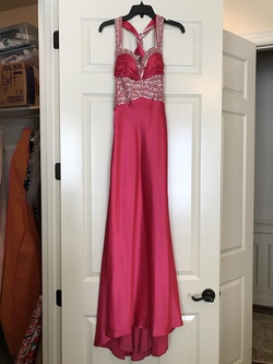 Queenly size 6 Flirt by Maggie Sottero Pink Straight evening gown/formal dress