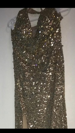 Gold Size 4 Side slit Dress on Queenly