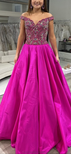 Queenly size 6 Sherri Hill Pink Ball gown evening gown/formal dress