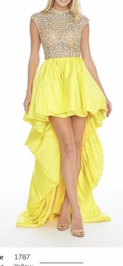 Queenly size 2  Yellow Cocktail evening gown/formal dress