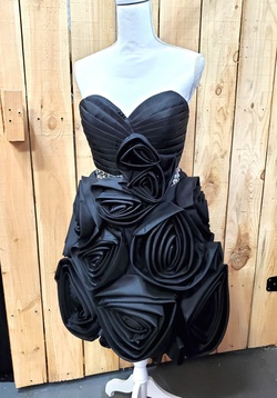 Queenly size 6 Party Time Formals Black Cocktail evening gown/formal dress