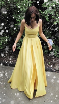 Queenly size 0  Yellow Ball gown evening gown/formal dress