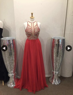 Style 9027 Rachel Allan Red Size 6 Ball gown on Queenly