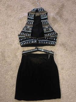 Sherri Hill Black Size 2 Homecoming Sorority Formal Cocktail Dress on Queenly
