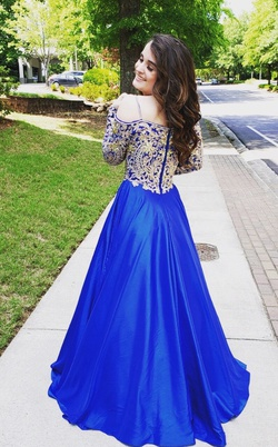 Johnathan Kayne Blue Size 4 Short Height Ball gown on Queenly