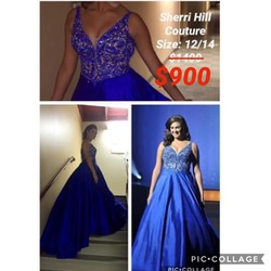 Sherri Hill Blue Size 12 Custom Ball gown on Queenly