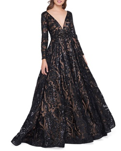 Queenly size 14 Mac Duggal Black Ball gown evening gown/formal dress