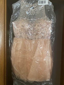 Queenly size 12 Dancing Queen Pink A-line evening gown/formal dress