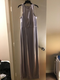 Queenly size 8 Halston Heritage Silver Side slit evening gown/formal dress