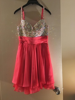 Queenly size 4 La Femme Orange Cocktail evening gown/formal dress