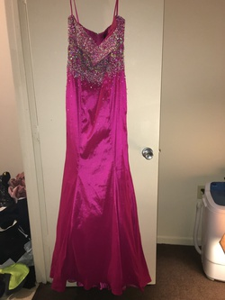 Queenly size 10 Mac Duggal Pink Mermaid evening gown/formal dress