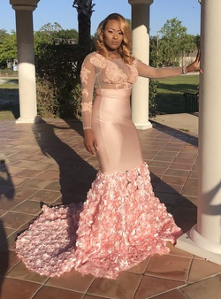 Queenly size 14  Pink Mermaid evening gown/formal dress