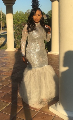 Silver Size 14 Ball gown on Queenly