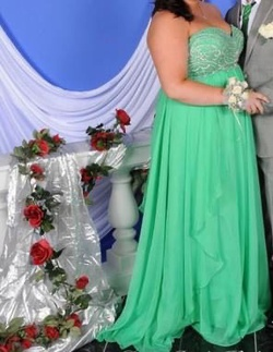 Queenly size 18 Sherri Hill Green Ball gown evening gown/formal dress