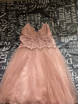 ASOS Pink Size 2 Lace A-line Dress on Queenly