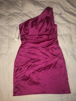 Queenly size 2 David's Bridal Pink Side slit evening gown/formal dress