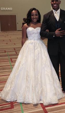 Sherri Hill White Size 6 Wedding Belt Corset Custom Ball gown on Queenly
