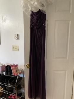 Purple Size 8 Side slit Dress on Queenly