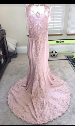"Queenly size 16 ""b""""Let's"""""" Pink Mermaid evening gown/formal dress"