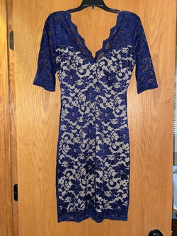 B. Smart Blue Size 4 Tall Height Cocktail Dress on Queenly