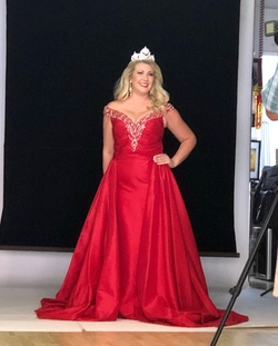 Tony Bowls Red Size 10 Overskirt Train Dress on Queenly