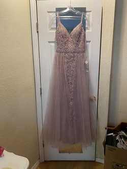 Queenly size 2 Lets Purple Straight evening gown/formal dress