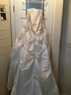 Allure White Size 10 Quinceanera Corset Train Ball gown on Queenly