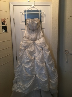 Queenly size 10 Allure White Ball gown evening gown/formal dress