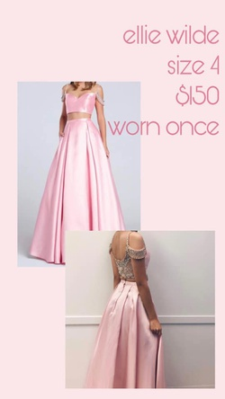 Queenly size 4 Ellie Wilde Pink Ball gown evening gown/formal dress