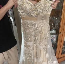 Jovani White Size 10 Jewelled Sweetheart Ball gown on Queenly