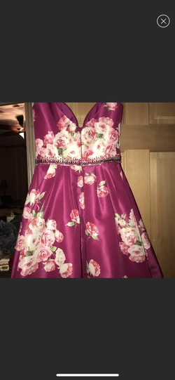 Sherri Hill Pink Size 4 Wedding Guest Cocktail Dress on Queenly