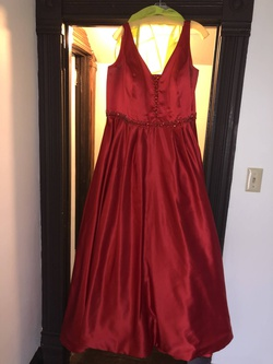 Queenly size 24 Sherri Hill Red A-line evening gown/formal dress