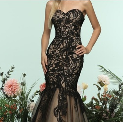 Queenly size 8 Zoey Grey Black Mermaid evening gown/formal dress