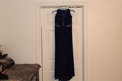 Morgan & Co. Purple Size 12 Morgan And Co. Side Slit Cut Out Straight Dress on Queenly