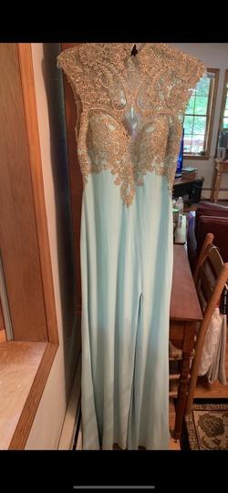 Clarisse Light Blue Size 6 Side slit Dress on Queenly
