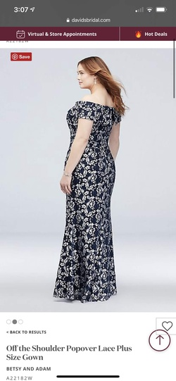 Blue Size 18 Straight Dress on Queenly