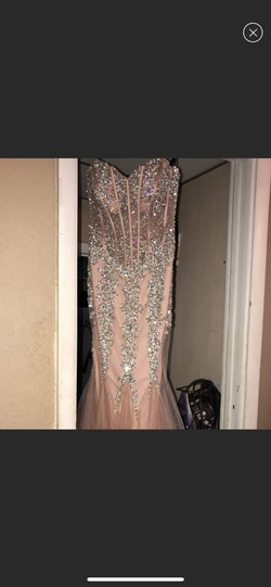 Queenly size 4 Camille La Vie Nude Mermaid evening gown/formal dress