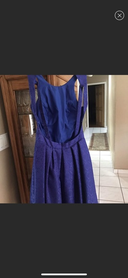 Sherri Hill Blue Size 8 Sorority Formal Wedding Guest Cocktail Dress on Queenly