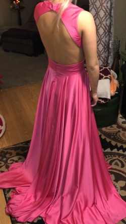 Johnathan Kayne Pink Size 4 Backless Train Dress on Queenly
