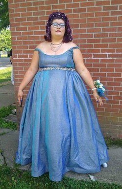 Blue Size 24 Ball gown on Queenly