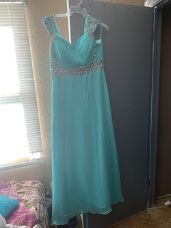 Queenly size 18  Blue Ball gown evening gown/formal dress
