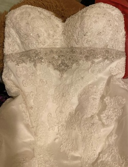 Queenly size 14 Casablanca White Train evening gown/formal dress