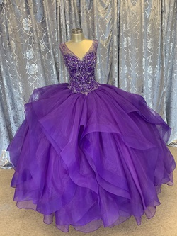 Mori Lee Purple Size 16 Corset Plus Size Ball gown on Queenly