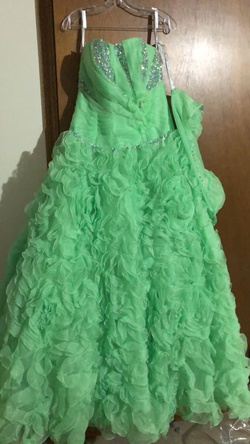 Marys bridal Green Size 12 Quinceanera Ball gown on Queenly