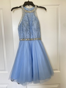 Queenly size 4 Coya Blue Cocktail evening gown/formal dress