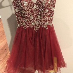 Queenly size 6 Aspeed Red A-line evening gown/formal dress