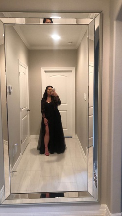 Queenly size 8  Black Ball gown evening gown/formal dress