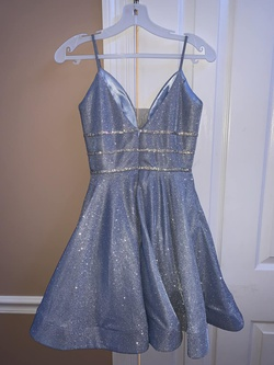 narianna Light Blue Size 00 Shiny Homecoming Cocktail Dress on Queenly